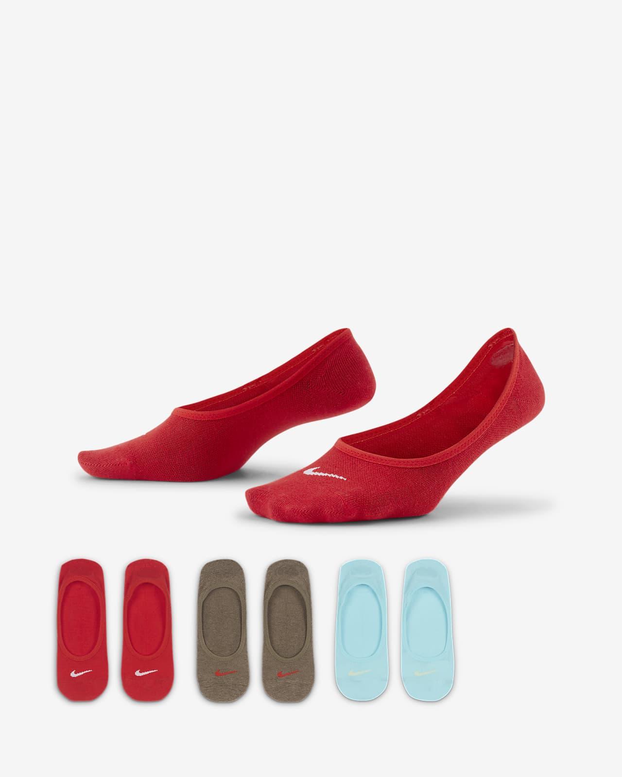 Calcetines invisibles de entrenamiento para mujer Nike Everyday Lightweight (3 pares)