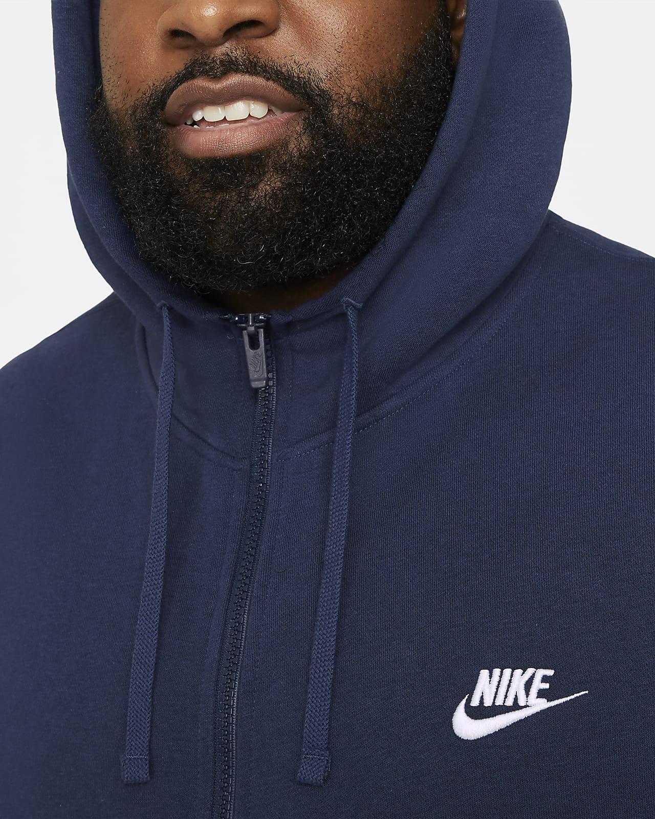 Nike Sportswear HOODIE CLUB Sweatjacke midnight navy