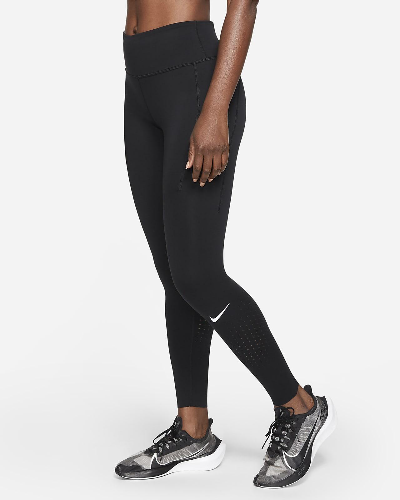 Damskie legginsy do biegania ze średnim stanem Nike Epic Luxe