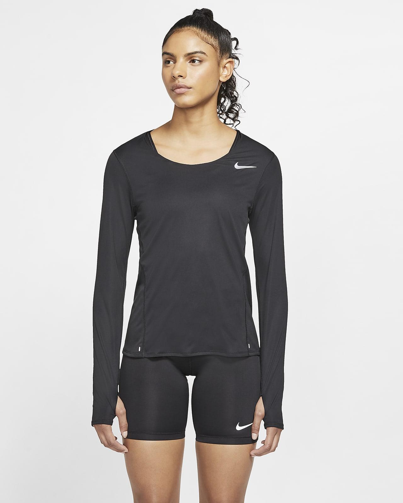 Женская беговая футболка с длинным рукавом Nike