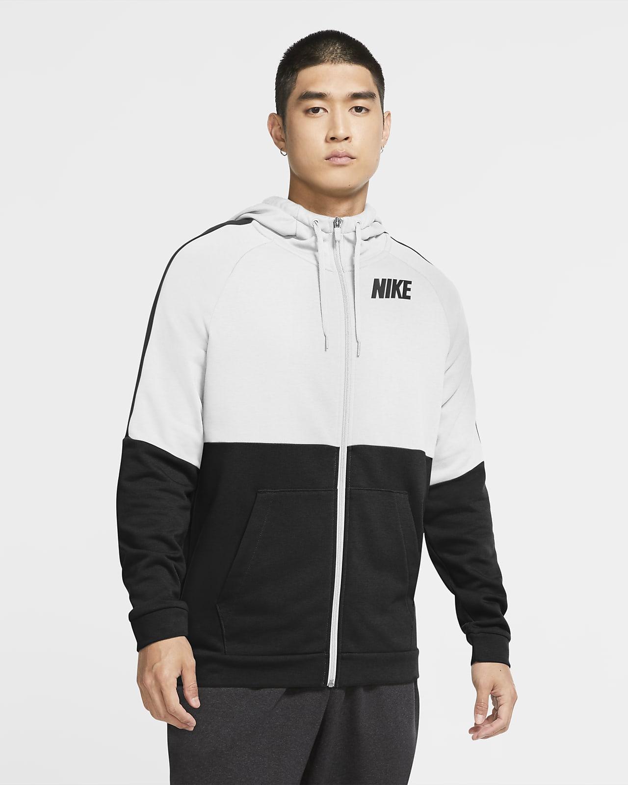 เสื้อเทรนนิ่งมีฮู้ดซิปยาวผู้ชาย Nike Dri-FIT