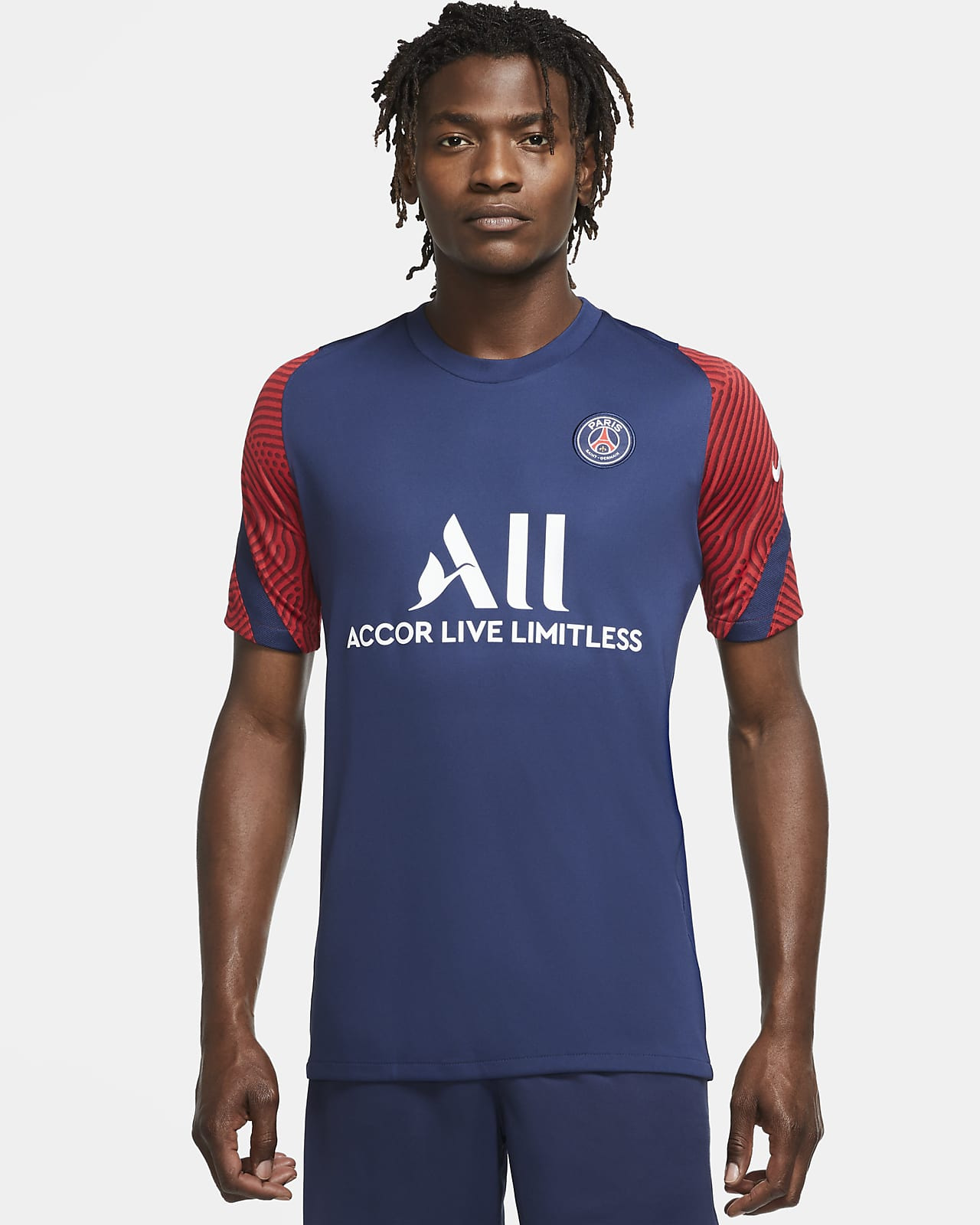 Paris Saint-Germain Strike Men's Short-Sleeve Football Top