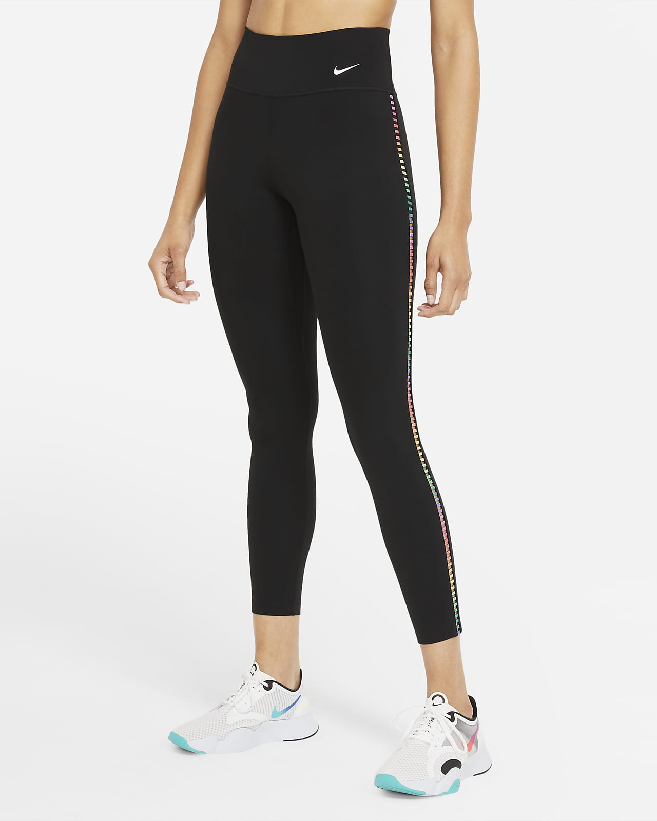 Leggings a 7/8 Nike One Rainbow Ladder - Donna