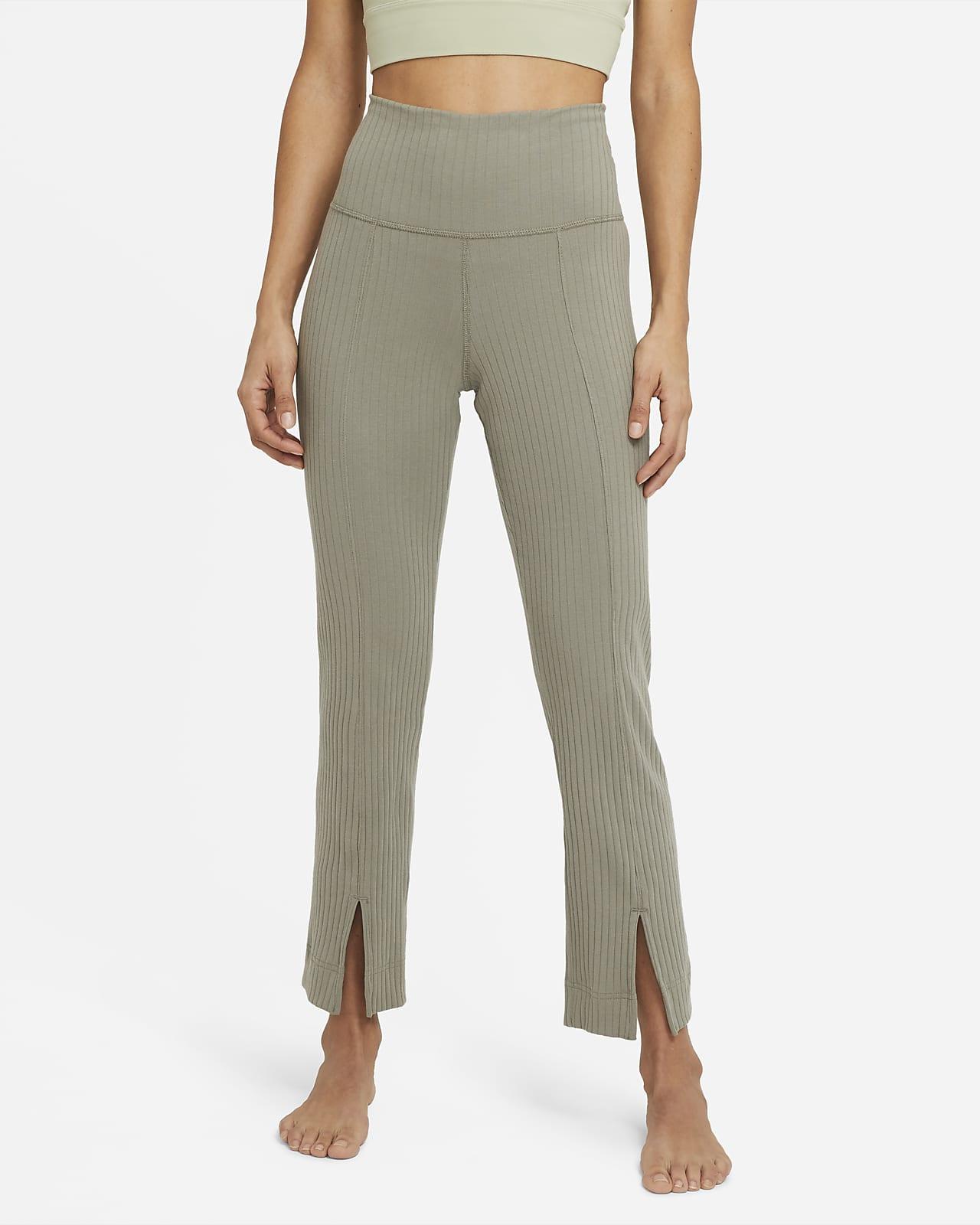 Pantalones de 7/8 de tela rib para mujer Nike Yoga