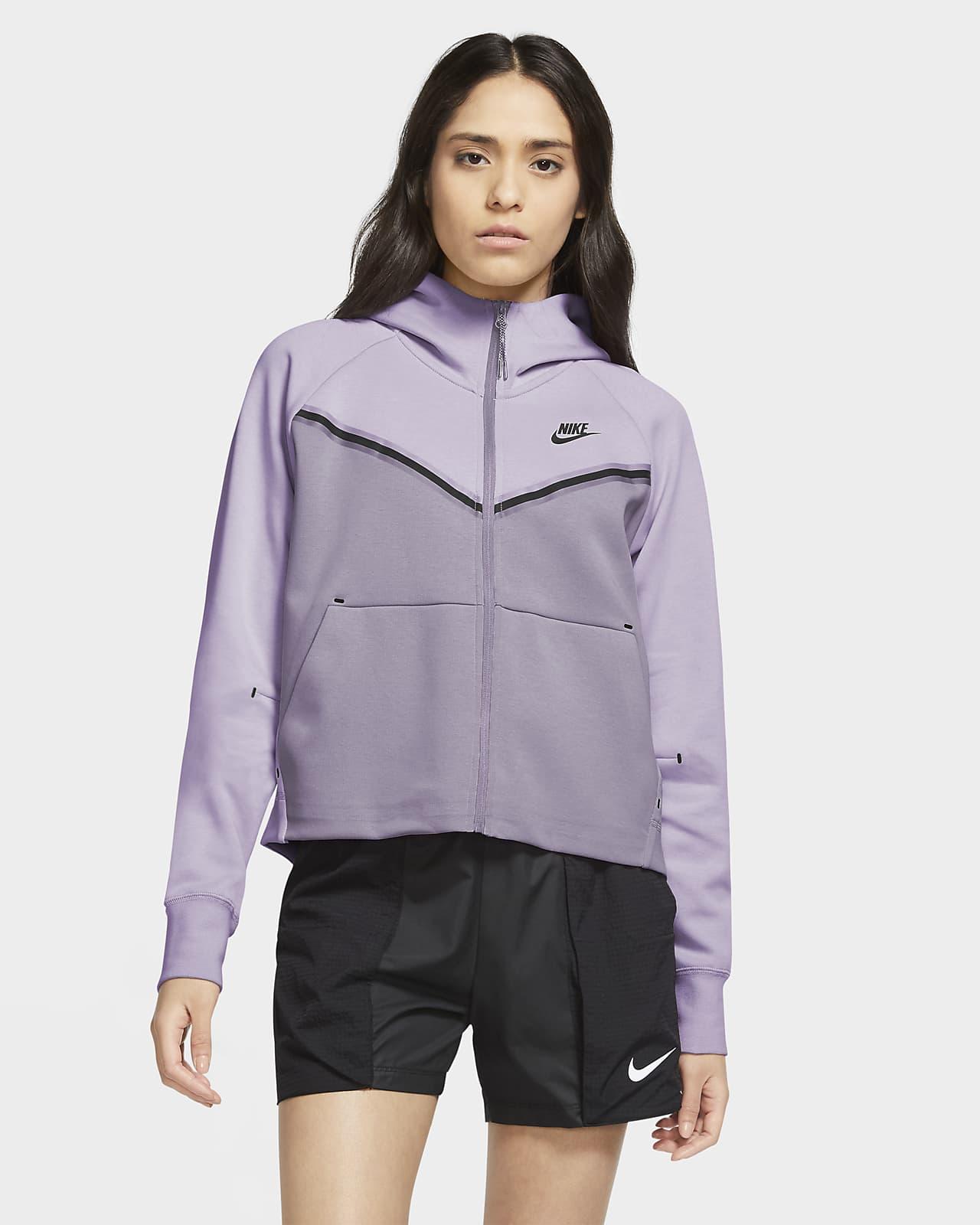 Γυναικεία μπλούζα με κουκούλα και φερμουάρ Nike Sportswear Tech Fleece Windrunner