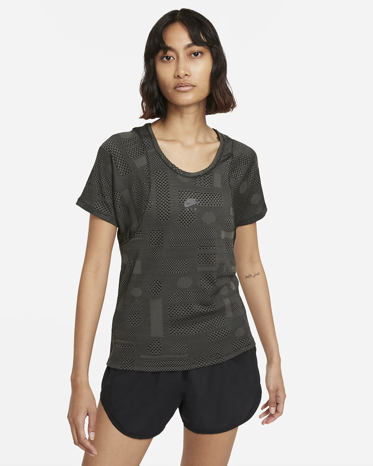 Camisola de running de manga curta Nike Air Dri-FIT para mulher