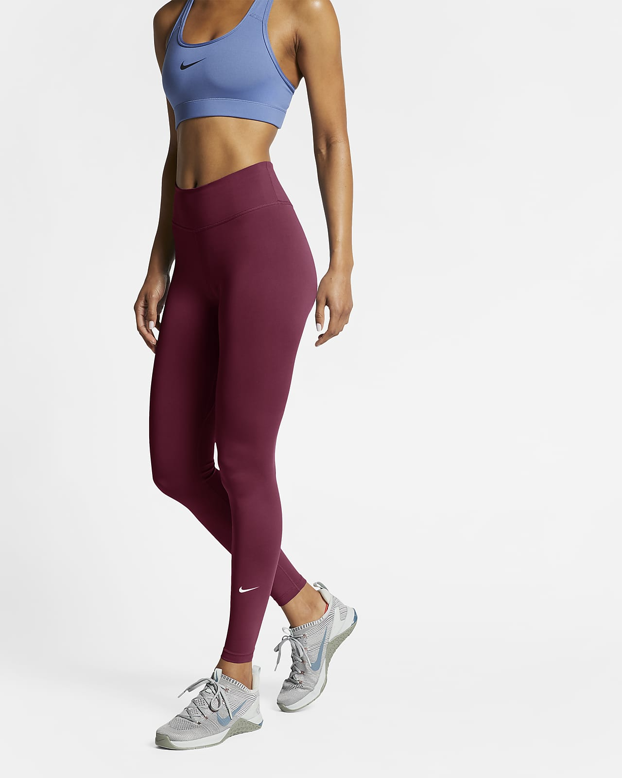 Nike One Damen-Tights mit halbhohem Bund