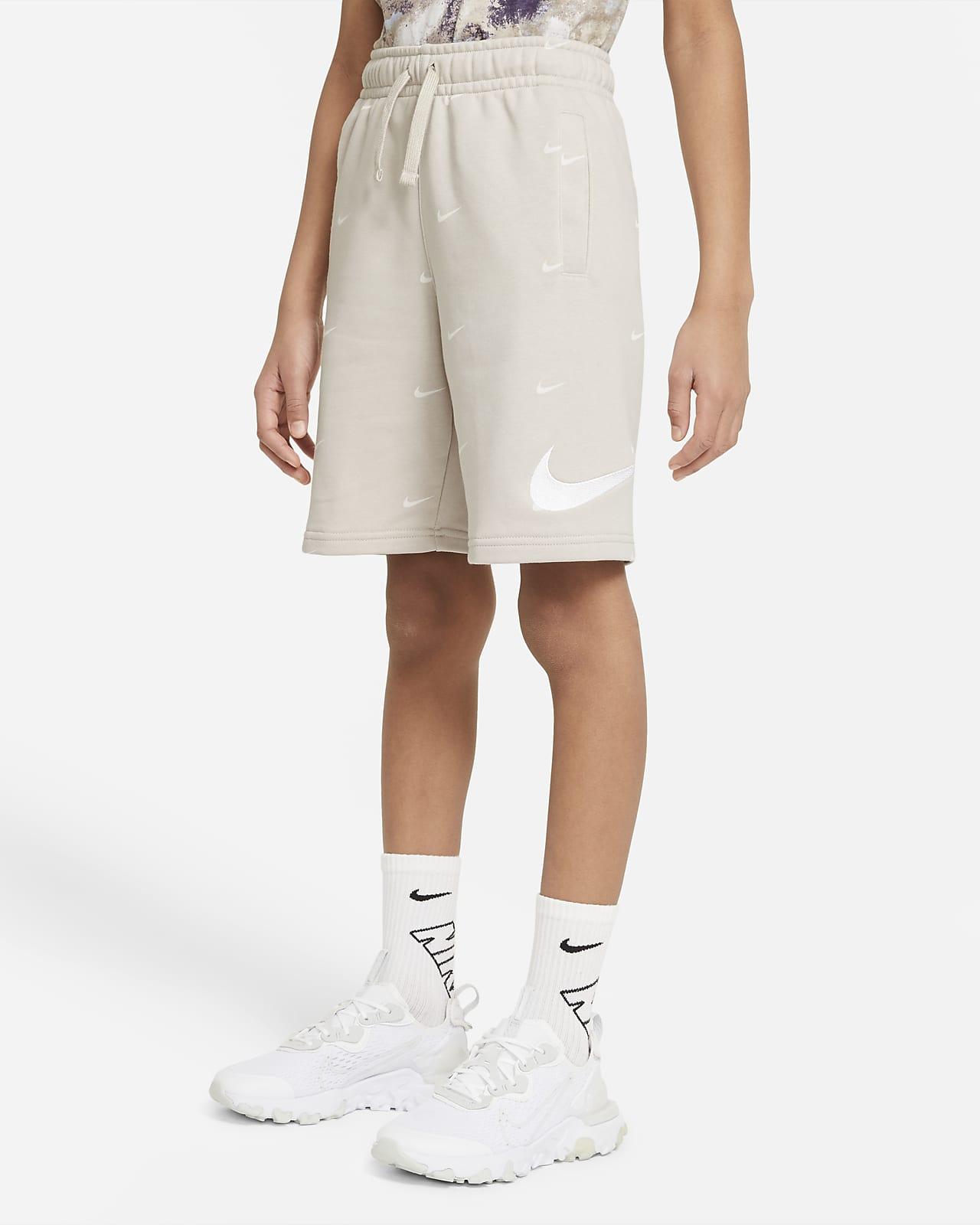 Nike Sportswear Swoosh-shorts i french terry til store børn (drenge)