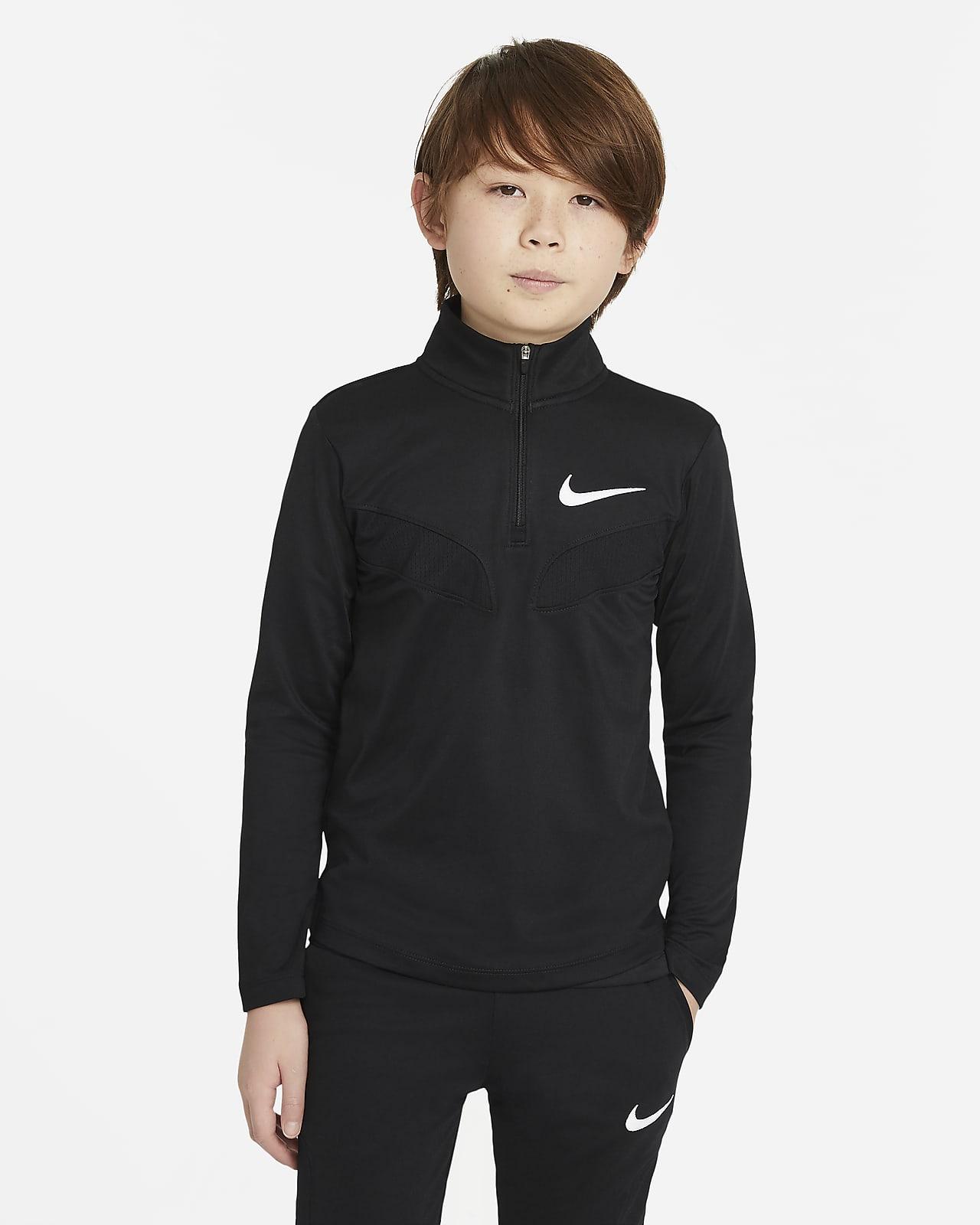Langærmet Nike Sport-træningsoverdel til store børn (drenge)