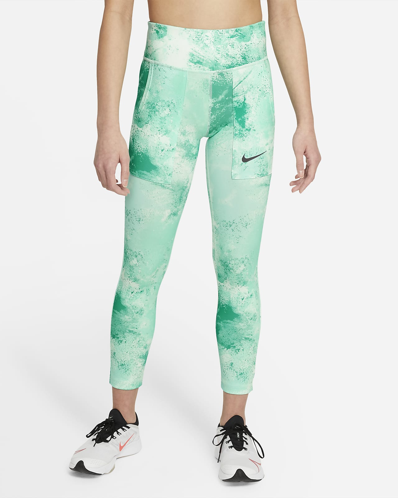 green splash Tie dye leggings