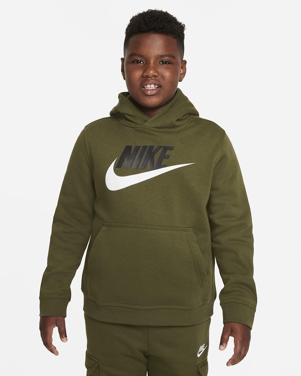 Nike Sportswear Club Fleece Older Kids' (Boys') Pullover Hoodie (Extended Size)