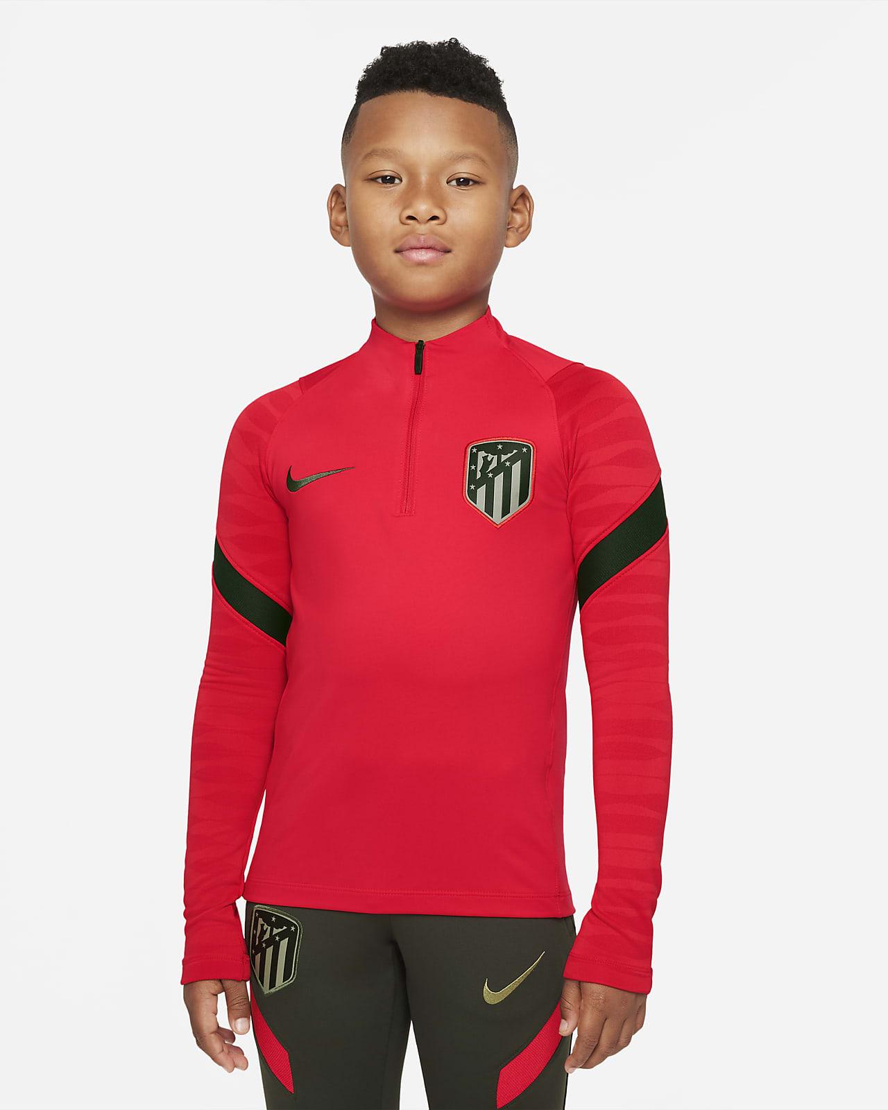 Haut d'entraînement de football Nike Dri-FIT Atlético Madrid Strike pour Enfant plus âgé