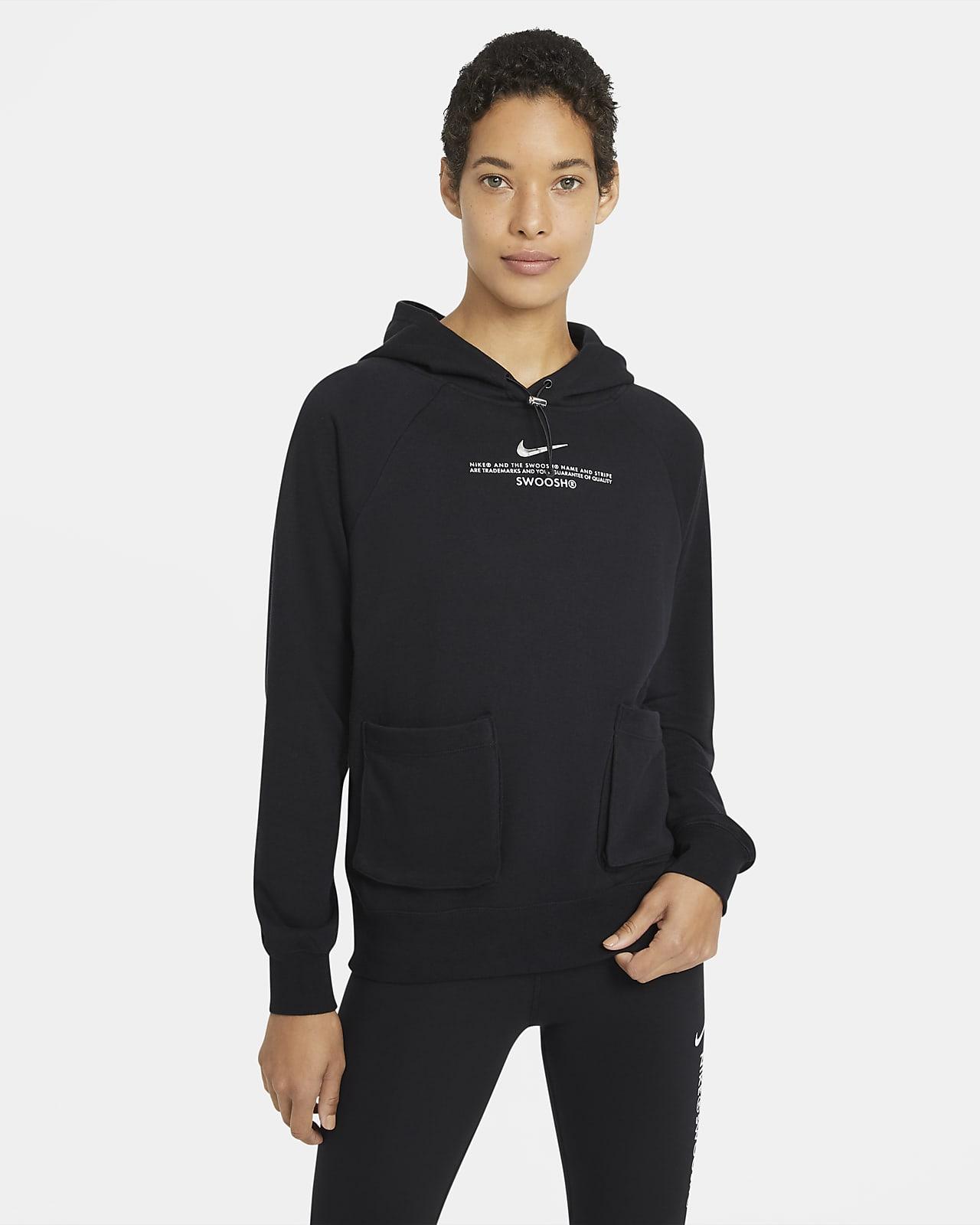 Nike Sportswear Swoosh French-Terry-Hoodie für Damen