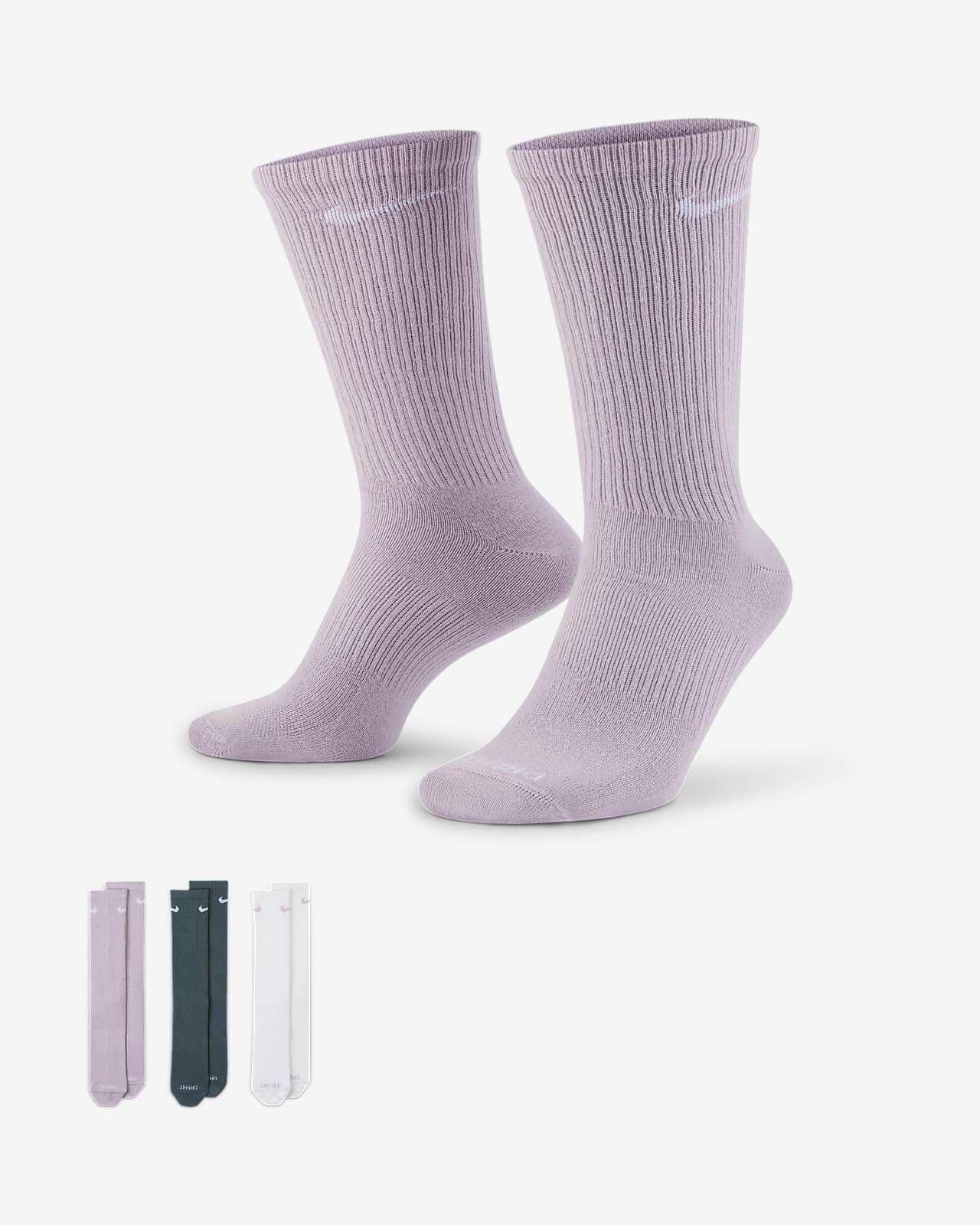 Calcetines largos de entrenamiento para hombre Nike Everyday Plus Lightweight (3 pares)