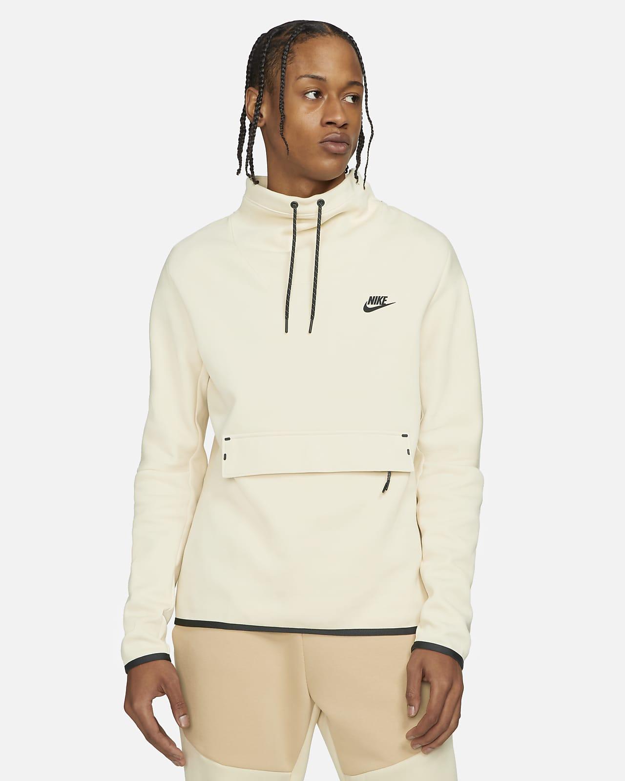 Haut à manches longues et col cheminée Nike Sportswear Tech Fleece pour Homme