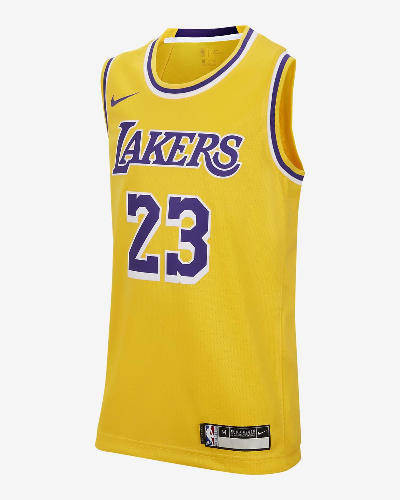 Koszulka dla dużych dzieci Nike NBA Icon Edition Swingman Jersey (Los Angeles Lakers)
