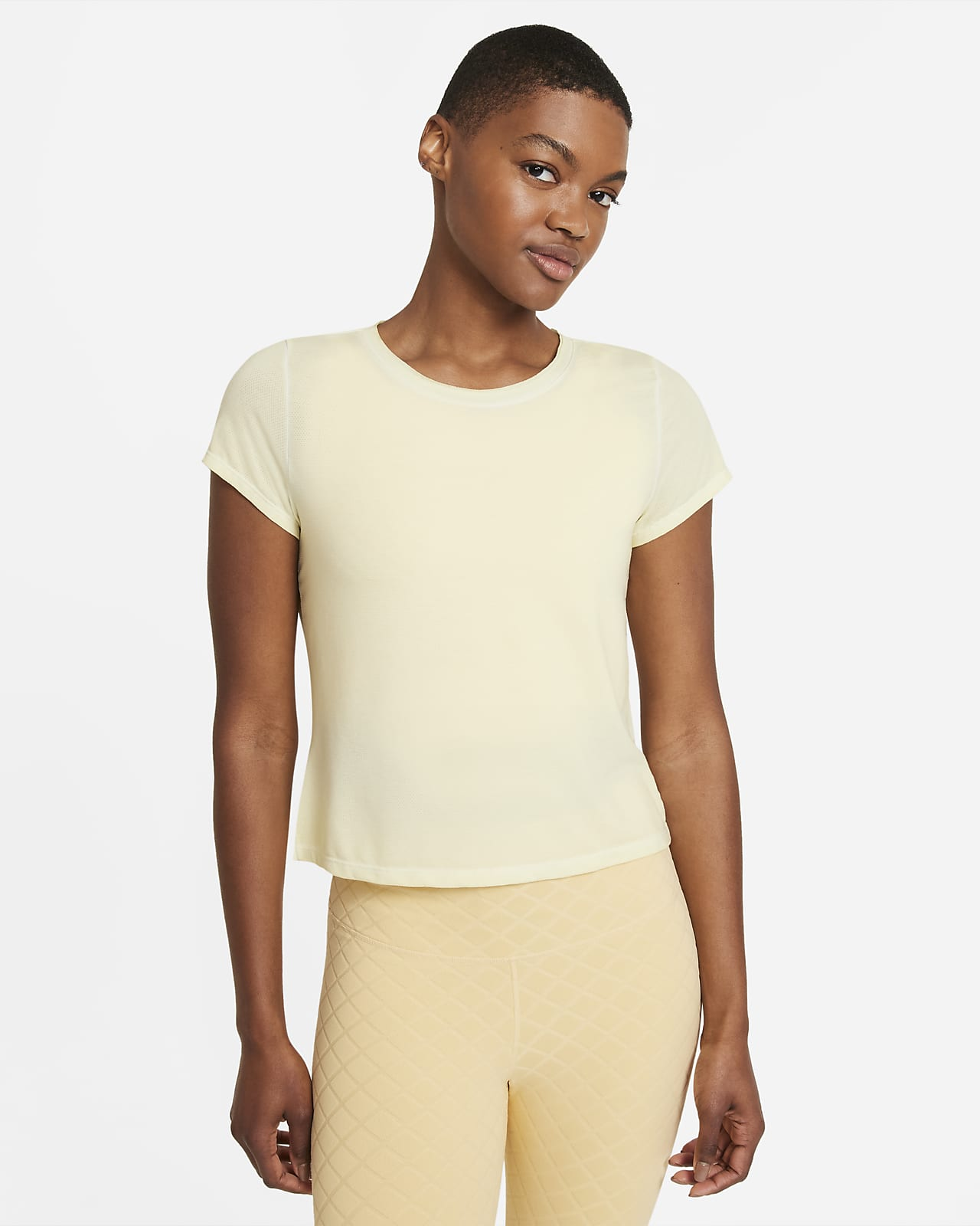 Nike Yoga Dri-FIT Kurzarm-Oberteil für Damen