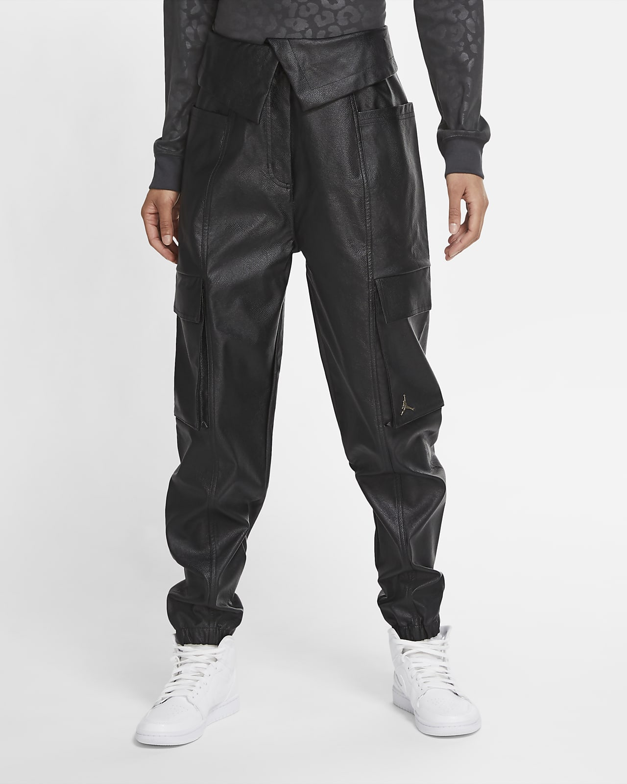 Jordan Court-To-Runway Women's Faux Leather Utility Pants