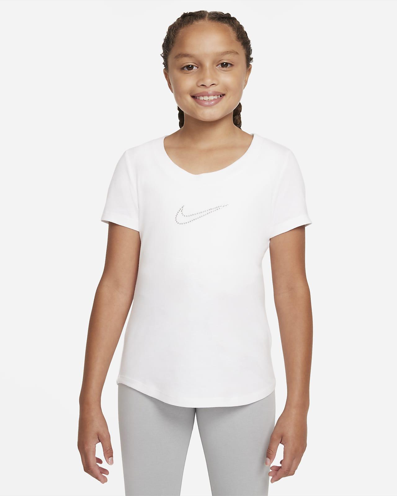 Nike Sportswear Big Kids' (Girls') Scoop-Neck T-Shirt
