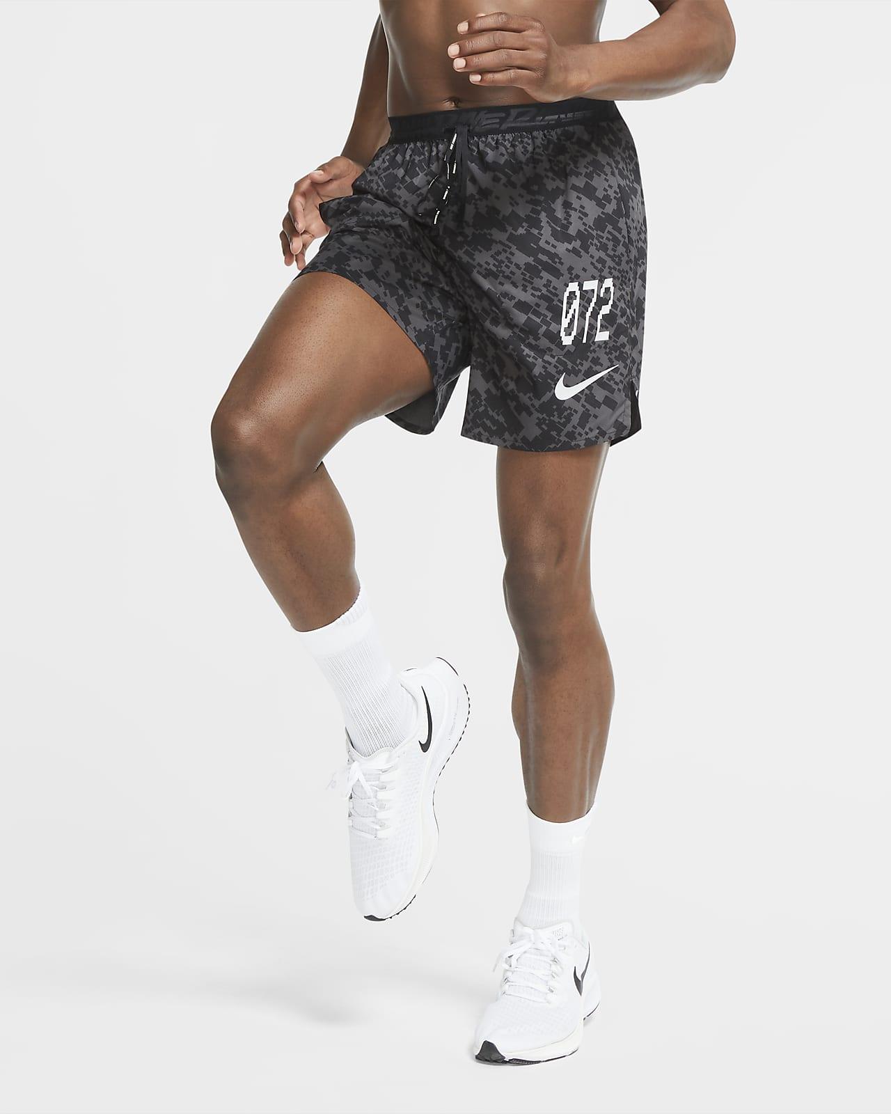 กางเกงวิ่งขาสั้นไม่มีซับในผู้ชาย Nike Stride Wild Run
