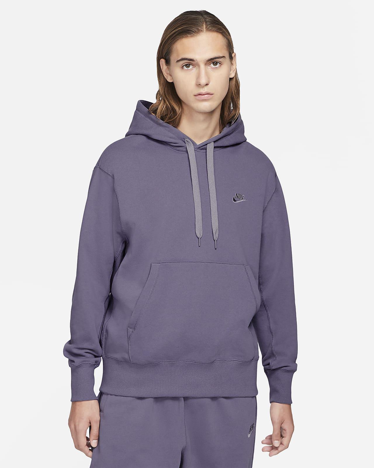 Sudadera con capucha sin cierre de tejido Fleece clásico para hombre Nike Sportswear