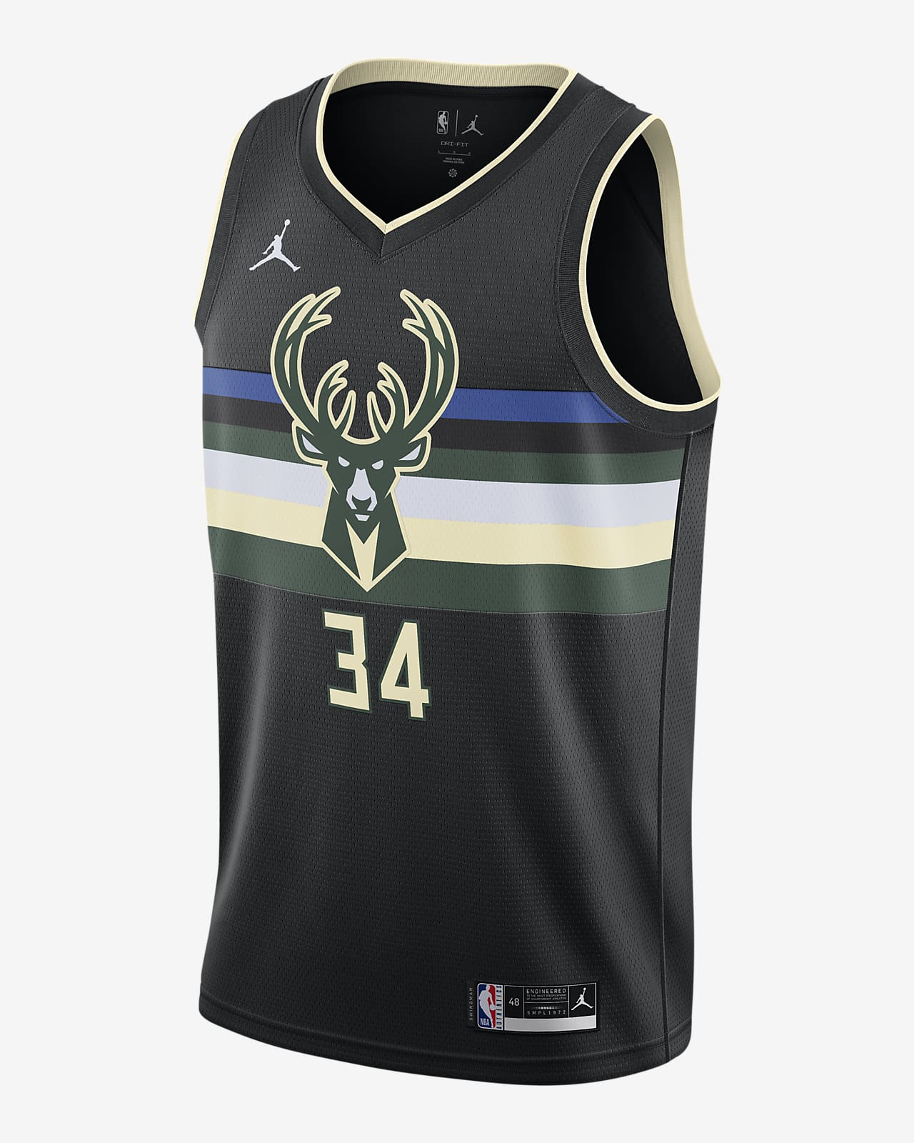 Giannis Antetokounmpo Bucks Statement Edition 2020 Jordan NBA Swingman Jersey