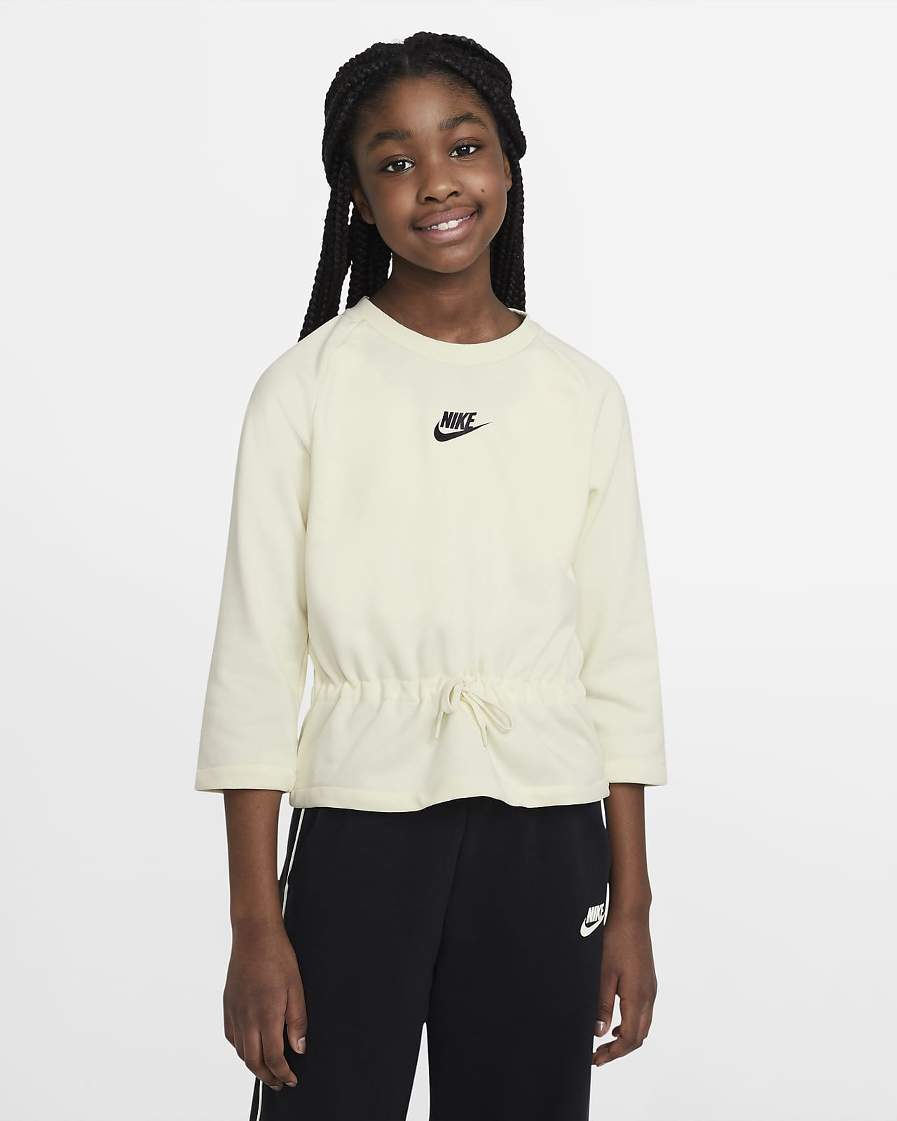 Nike Sportswear Older Kids' (Girls') 3/4-Sleeve Top