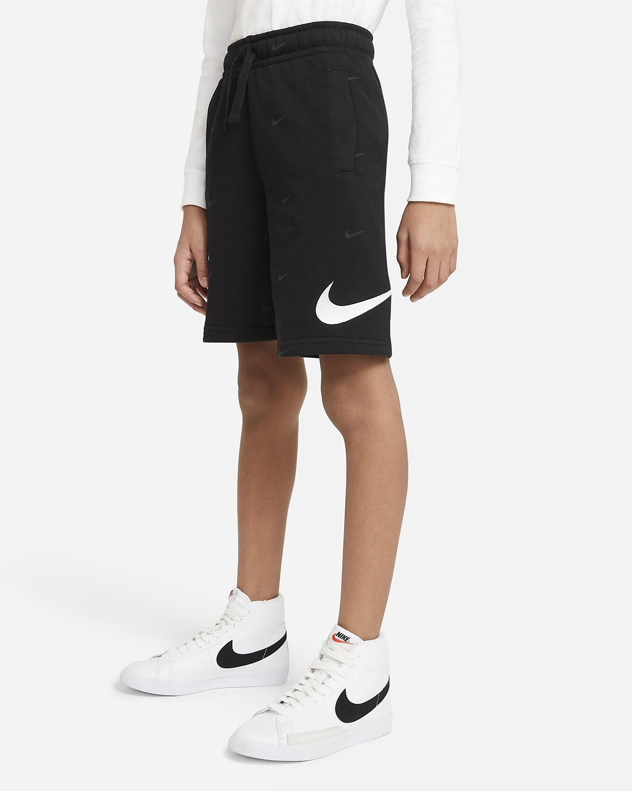 Shorts in French Terry Nike Sportswear Swoosh - Ragazzo