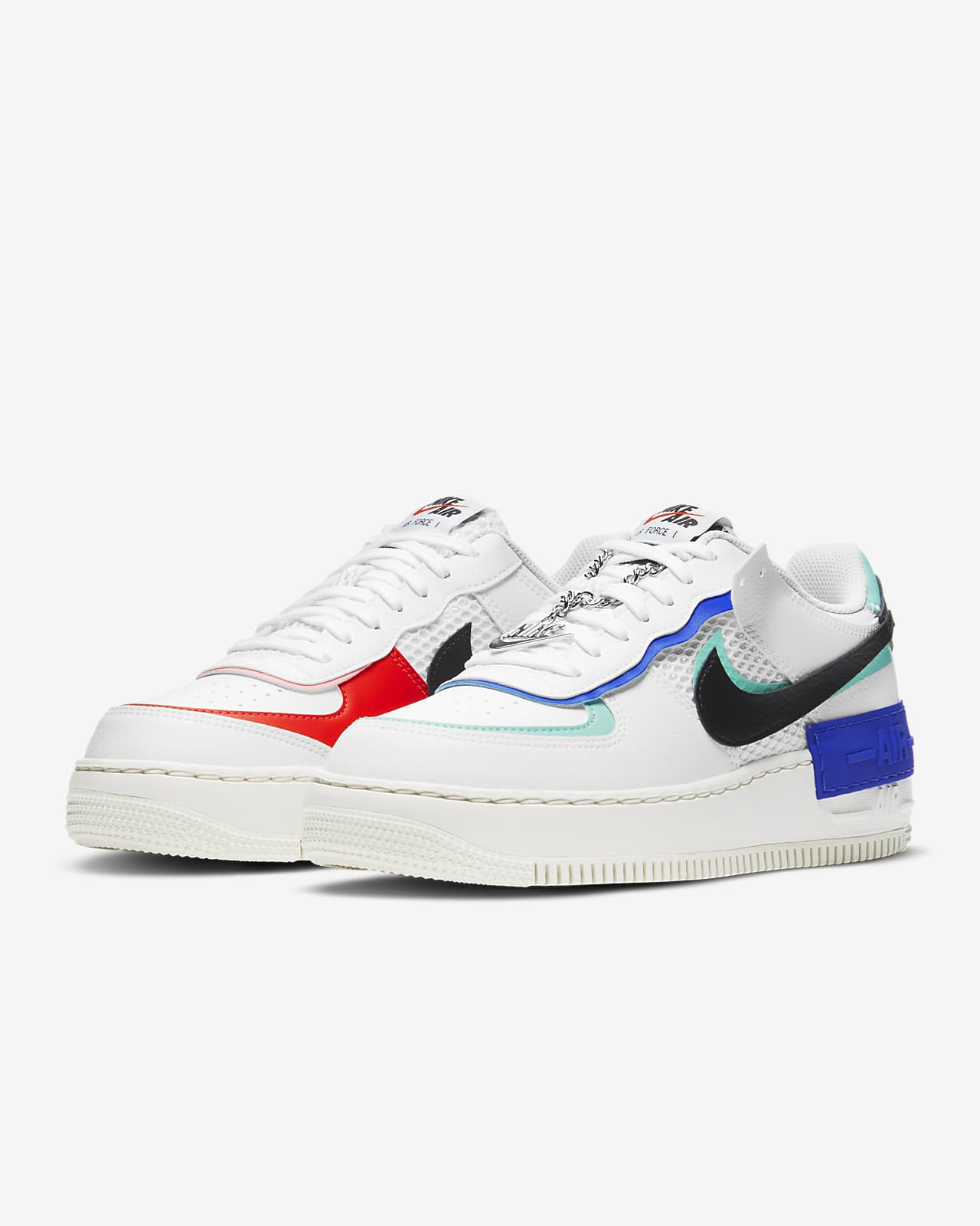 Nike Air Force 1 Shadow Women S Shoe Nike Com Dual nike air branding on the heel. nike air force 1 shadow women s shoe
