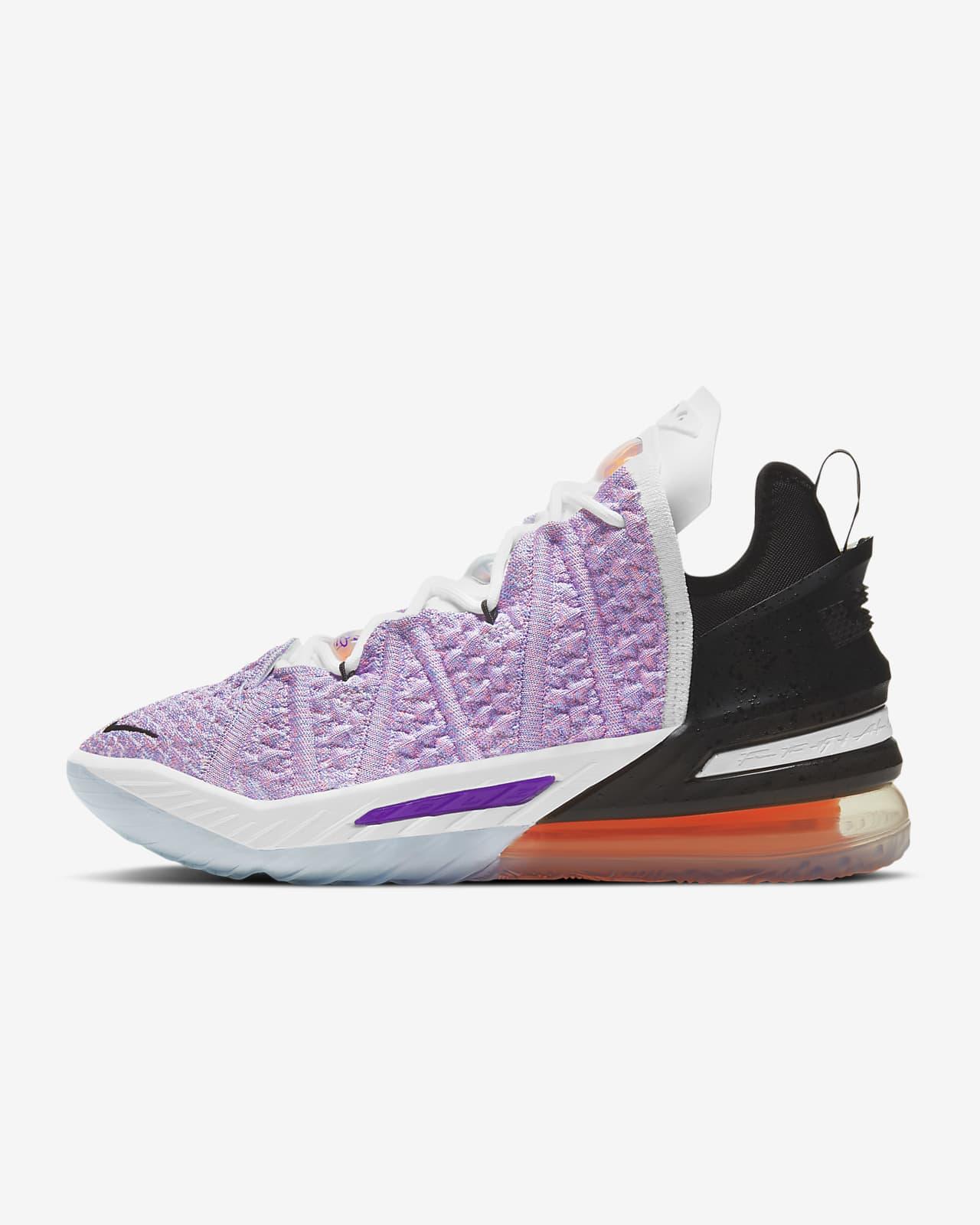 """LeBron 18 """"Blue Multi"""" Basketball Shoe"""