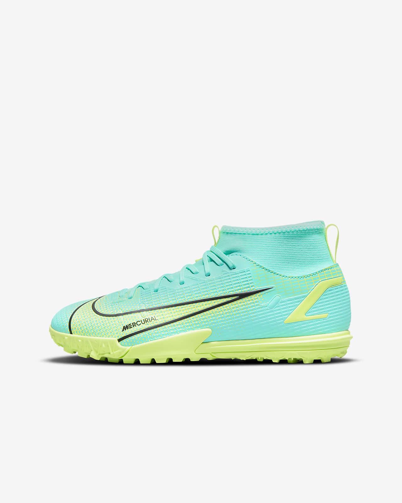 Calzado de fútbol para pasto artificial (turf) para niños talla pequeña/grande Nike Jr. Mercurial Superfly 8 Academy TF