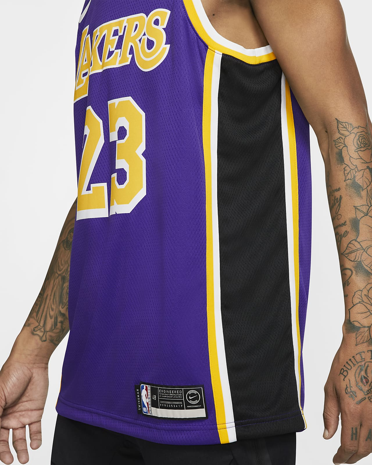 Maillot d'équipe Nike NBA Swingman LeBron James Lakers Statement Edition