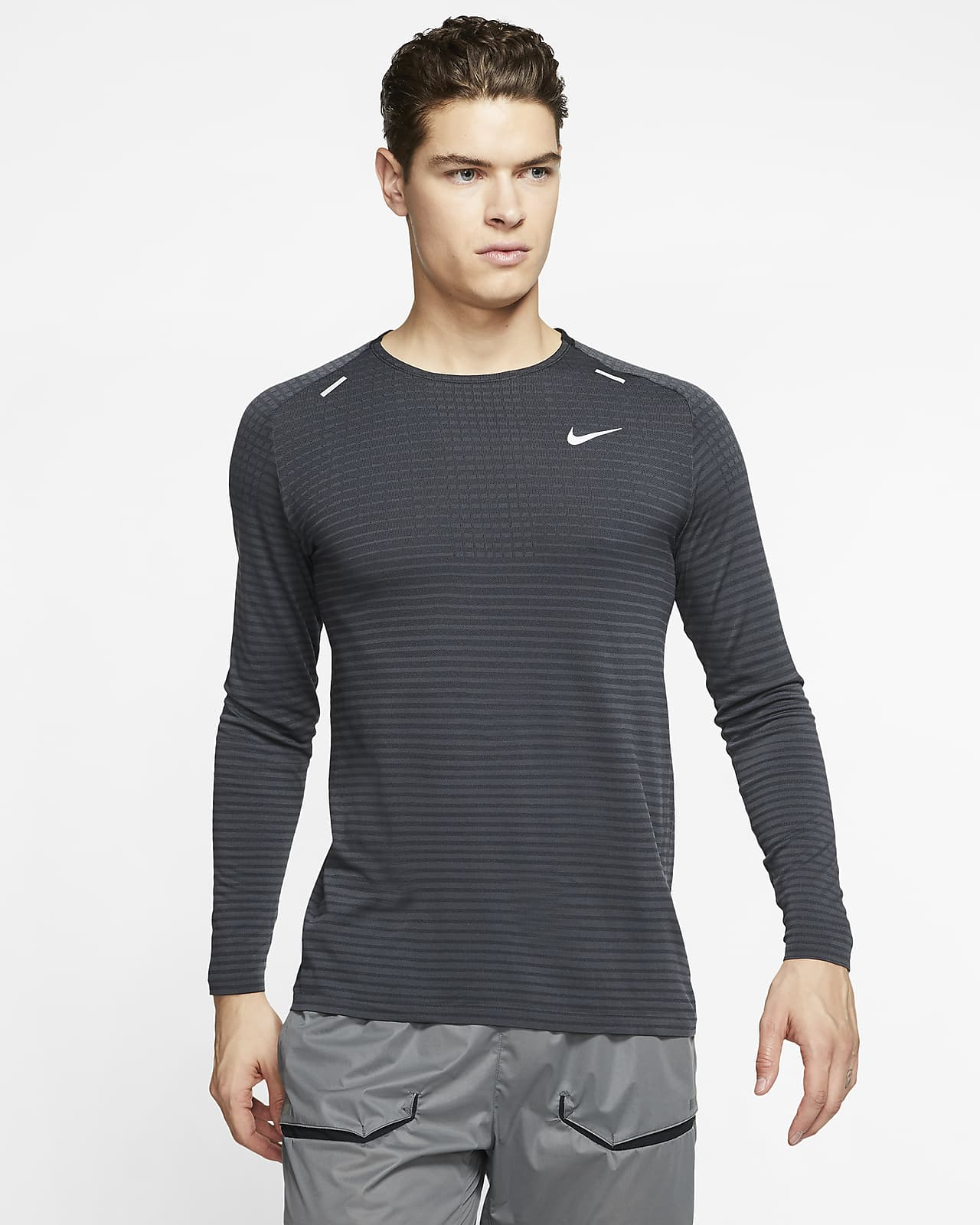 chisme Histérico muñeca  Nike TechKnit Ultra Camiseta de running de manga larga - Hombre. Nike ES