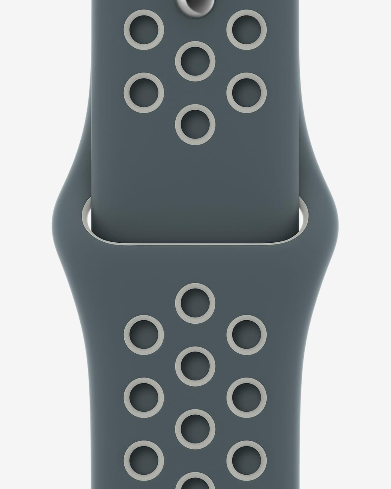 Correa deportiva Nike (regular) de 44 mm hasta/plata ligero
