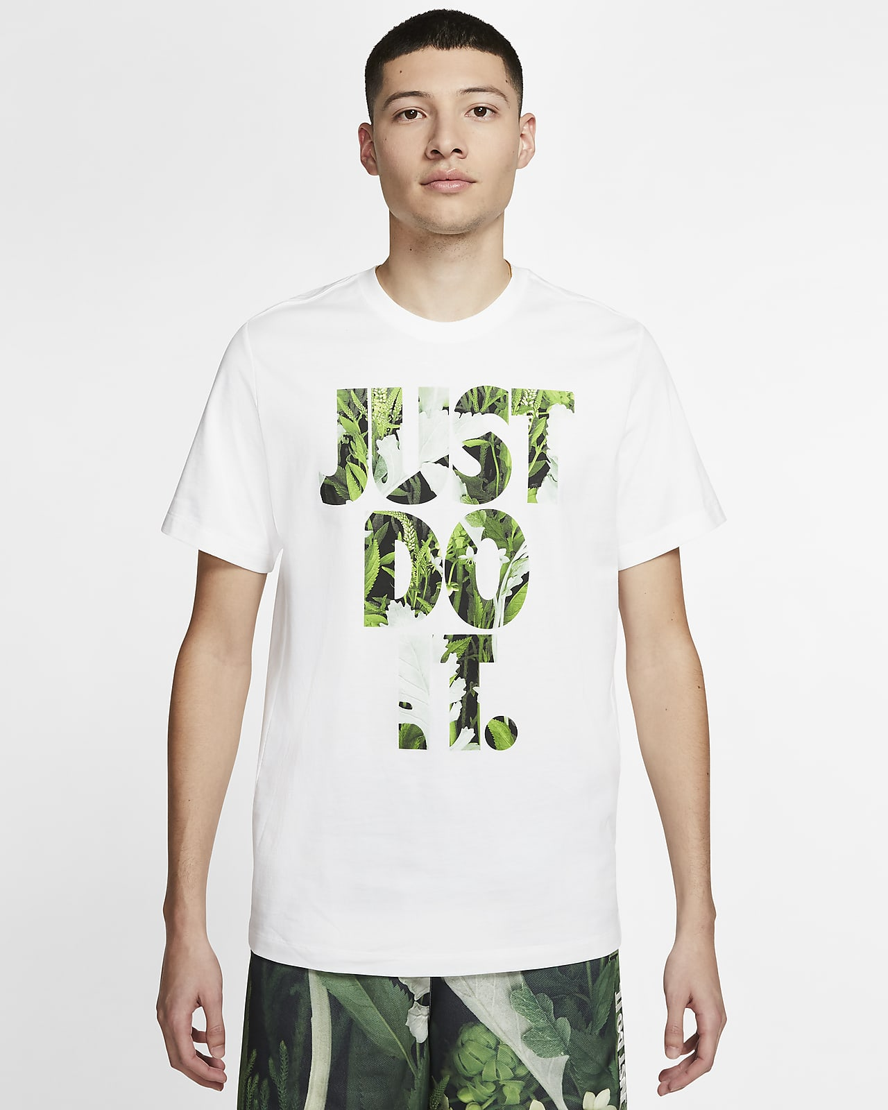 เสื้อยืดผู้ชายลายดอกไม้ Nike Sportswear JDI