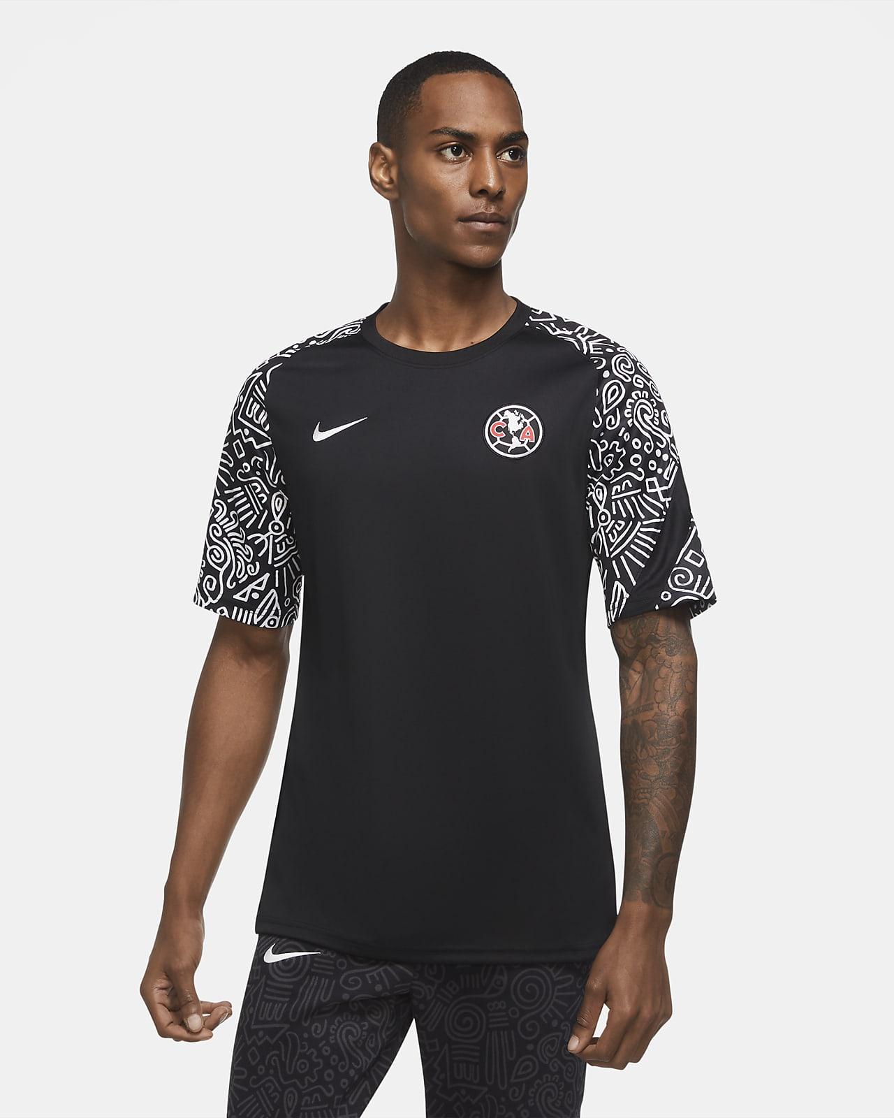 Camiseta de fútbol de manga corta para antes del partido para hombre del Club América