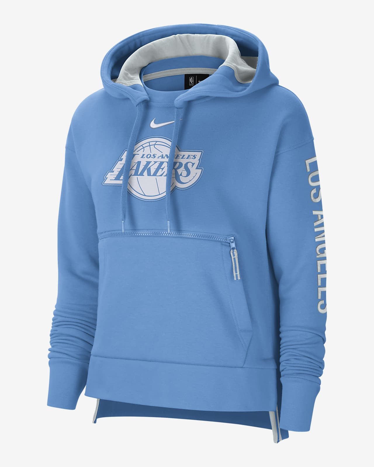 Los Angeles Lakers City Edition Courtside Women's Nike NBA Pullover Hoodie