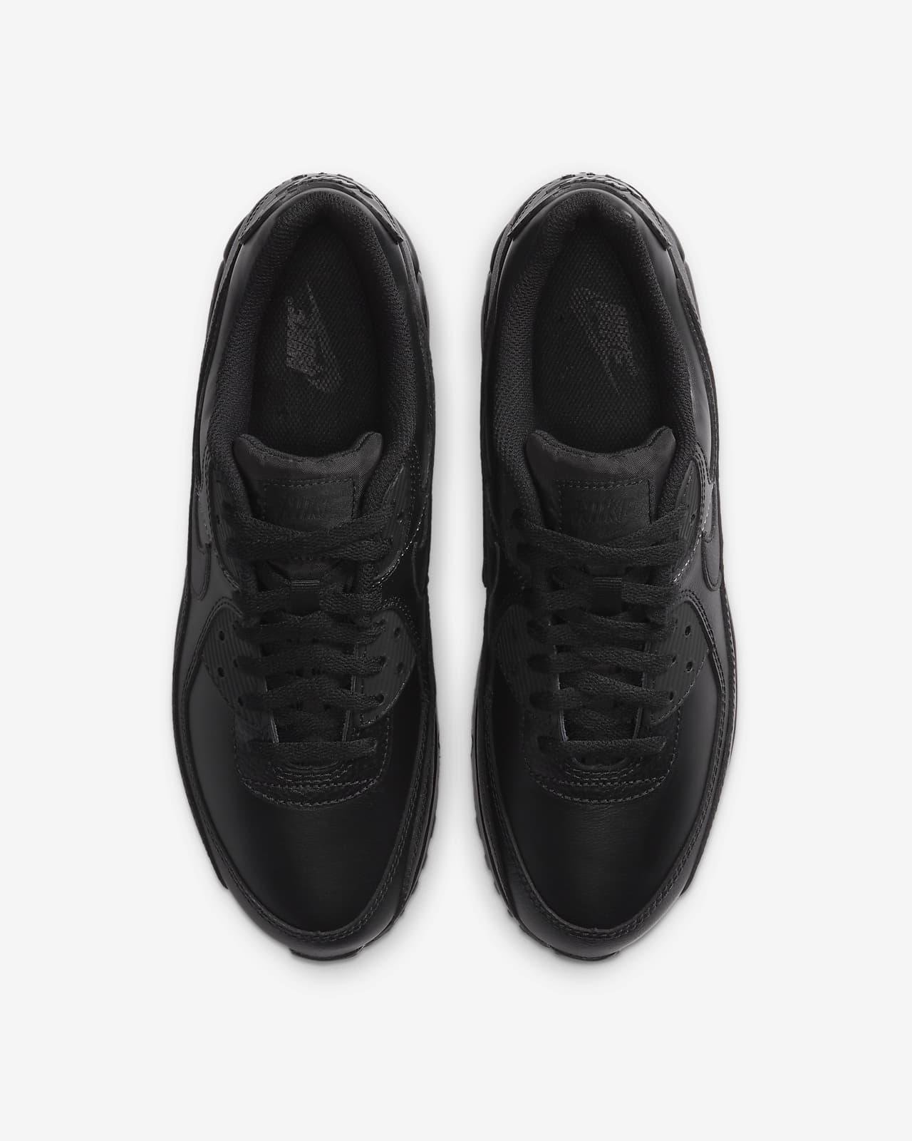 air max 90 leather uomo nere