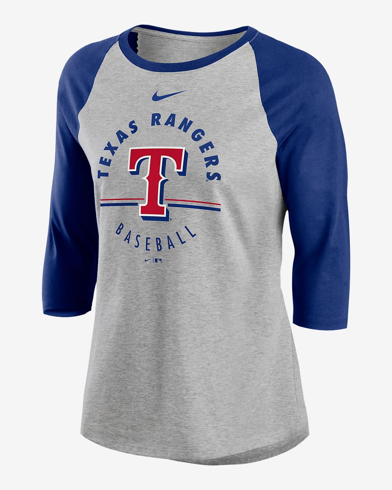 Nike Encircled (MLB Texas Rangers) Women's 3/4-Sleeve T-Shirt
