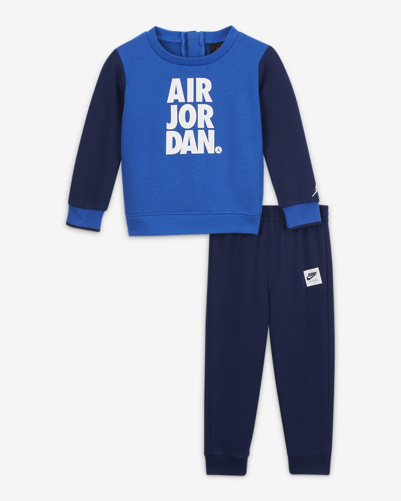 Conjunto De Sudadera De Cuello Redondo Y Pantalones Para Bebe Jordan Jumpman Air De 12 A 24 Meses Nike Com