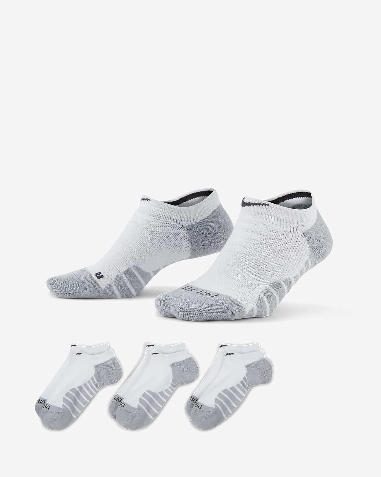 ถุงเท้าเทรนนิ่งผู้หญิงแบบซ่อน Nike Everyday Max Cushioned (3 คู่)