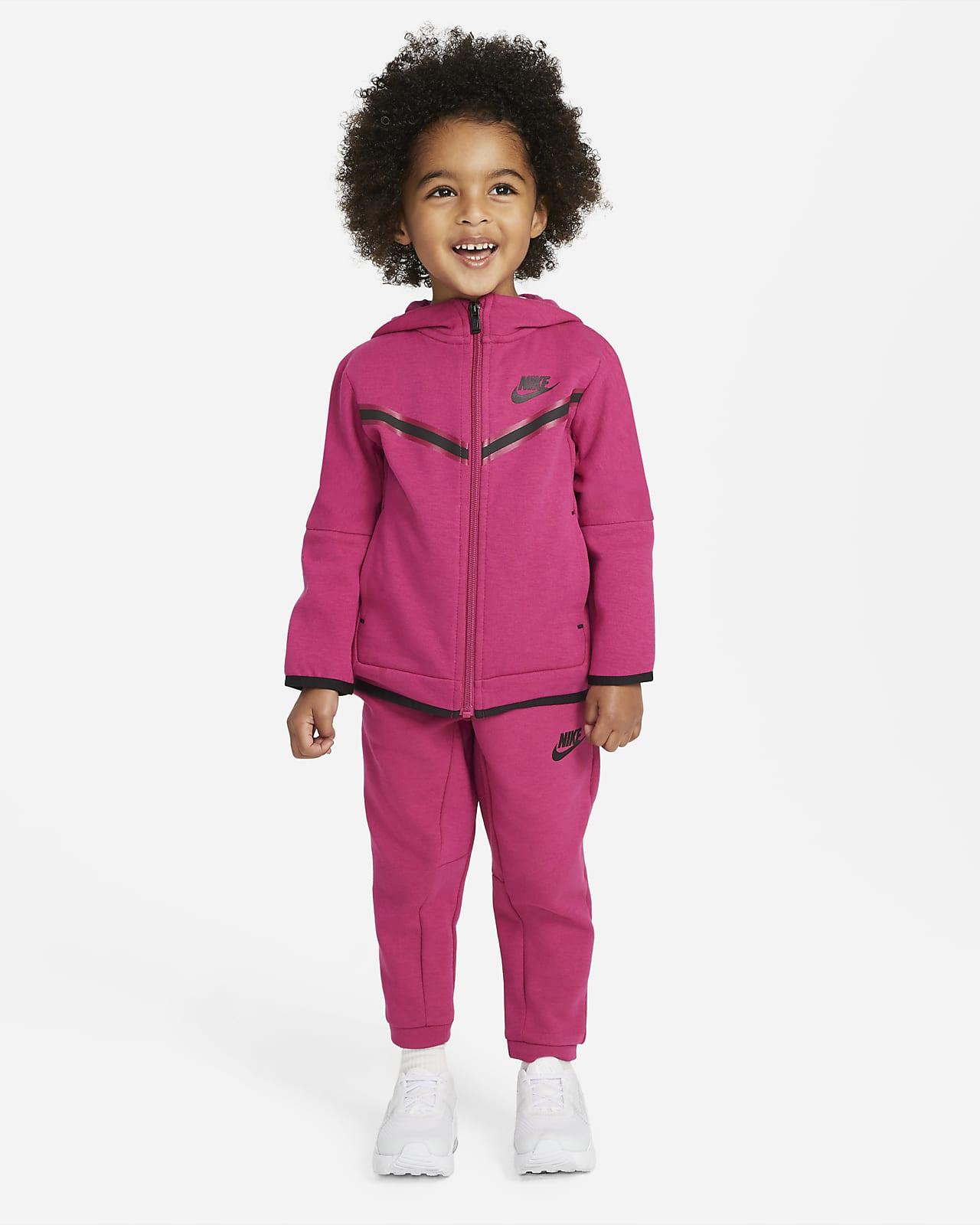 Nike Sportsweear Tech Fleece-sæt med hættetrøje og bukser til småbørn