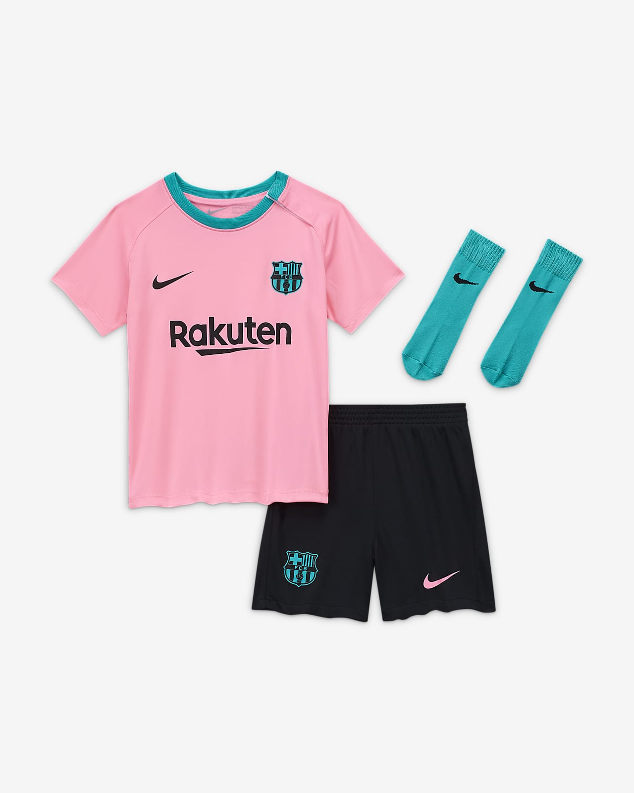 Kit de fútbol alternativo para bebé e infantil de FC Barcelona 2020/21