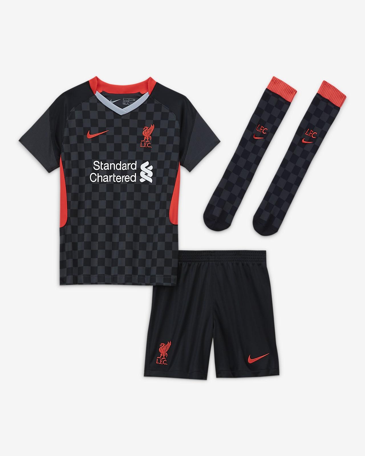Liverpool FC Third-fodboldsæt til mindre børn