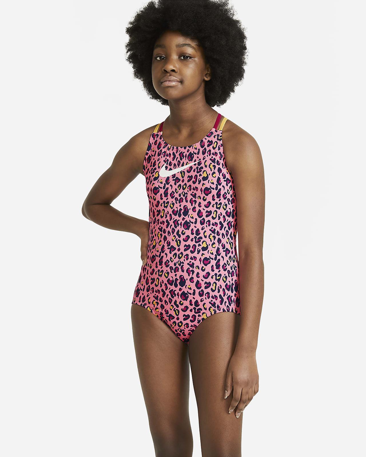 Nike Big Kids' (Girls') Spiderback 1-Piece Swimsuit