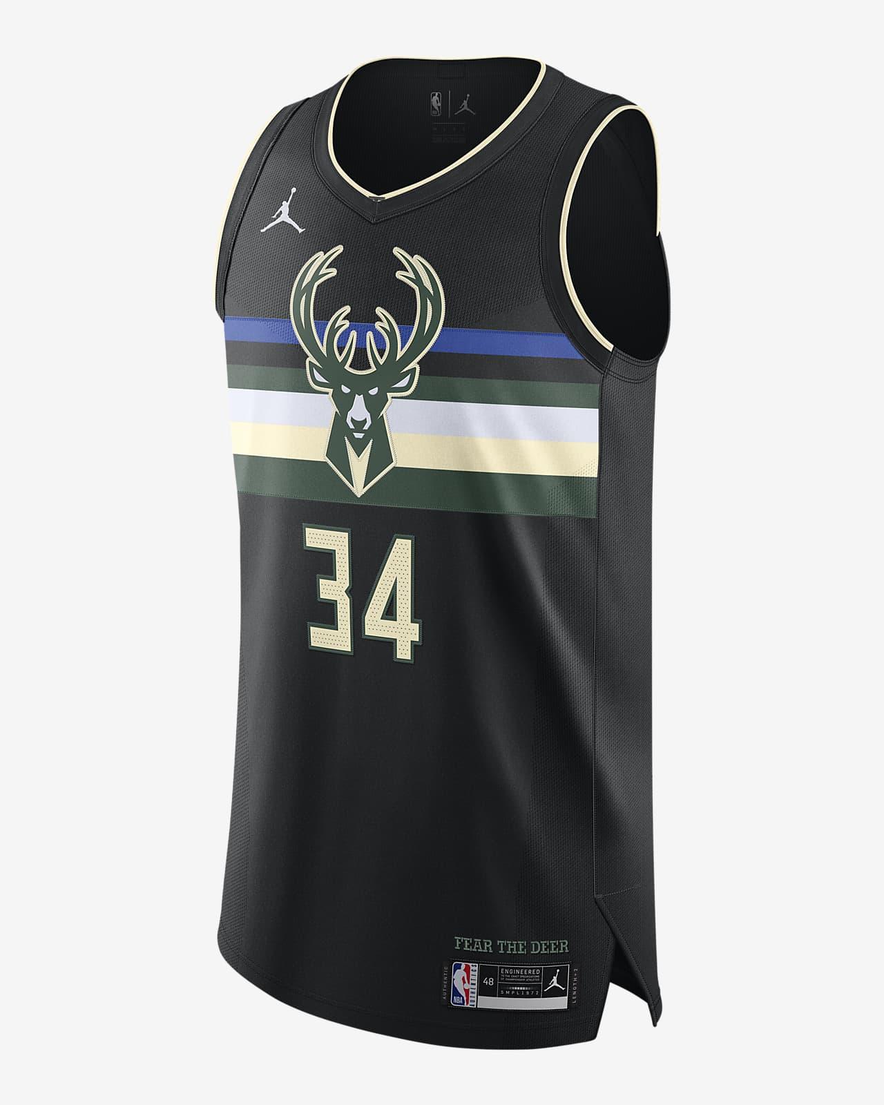 Giannis Antetokounmpo Bucks Statement Edition 2020 Jordan NBA Authentic Jersey