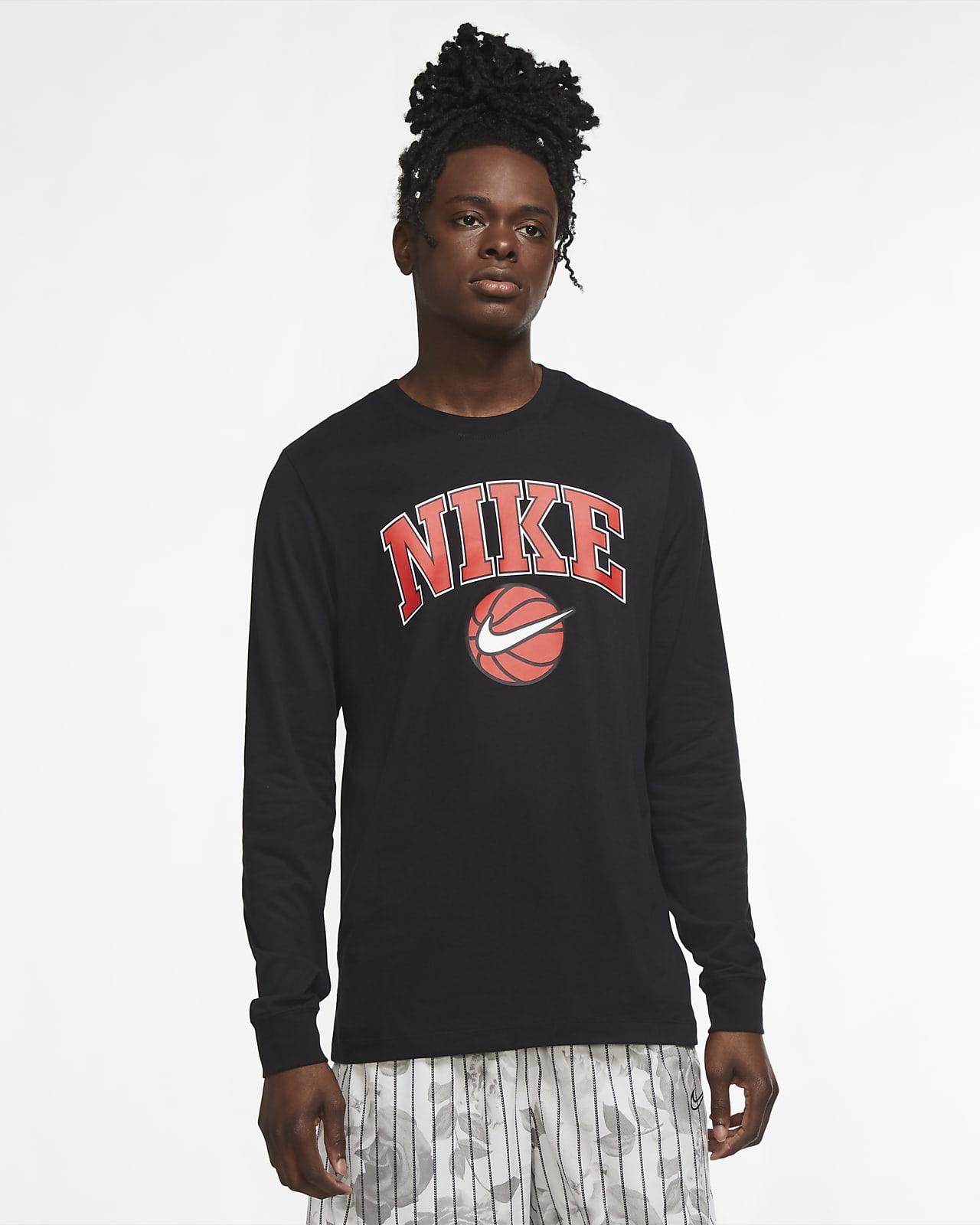 Playera de manga larga de básquetbol para hombre Nike Dri-FIT HBR