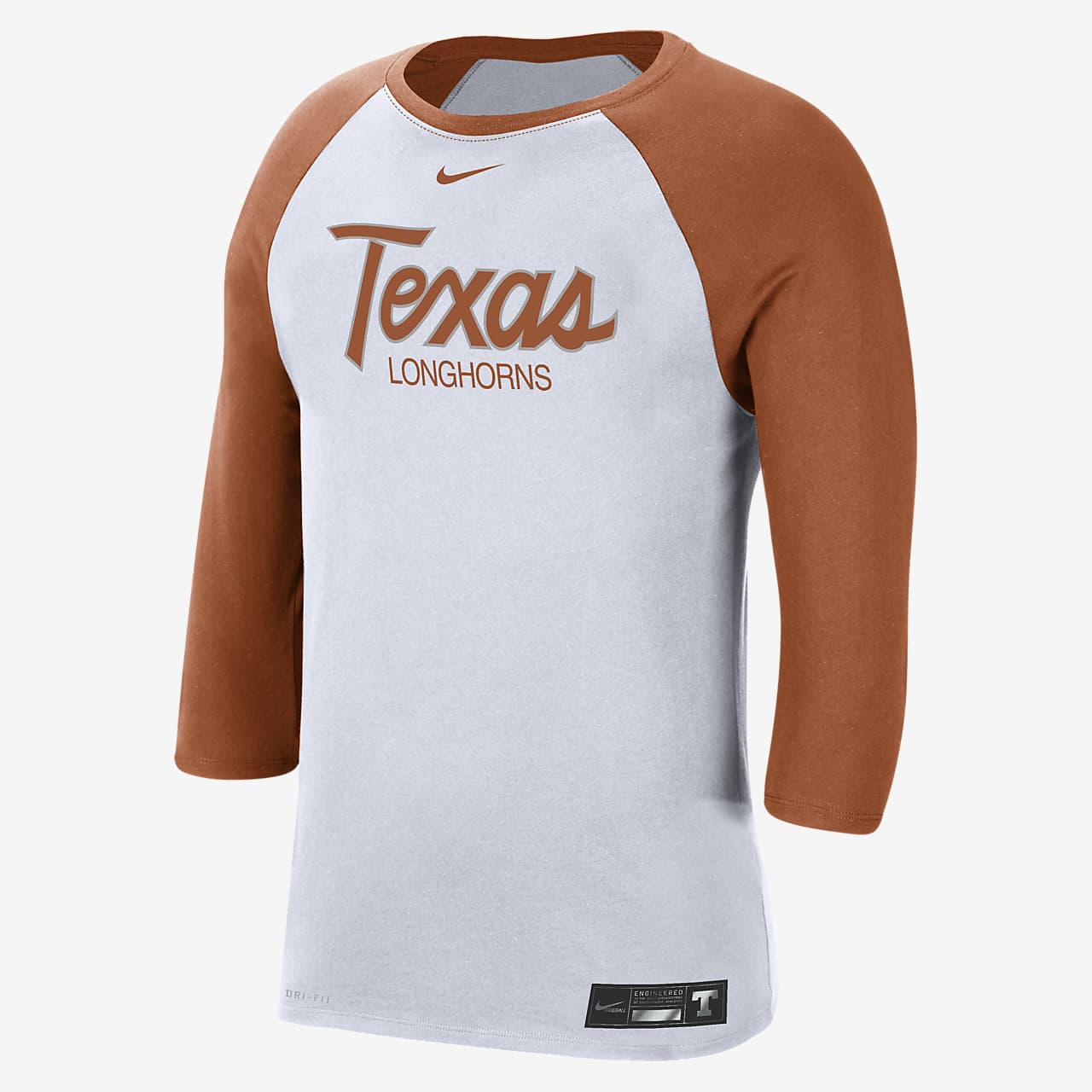 Nike College Dri-FIT (Texas) Men's 3/4-Sleeve T-Shirt