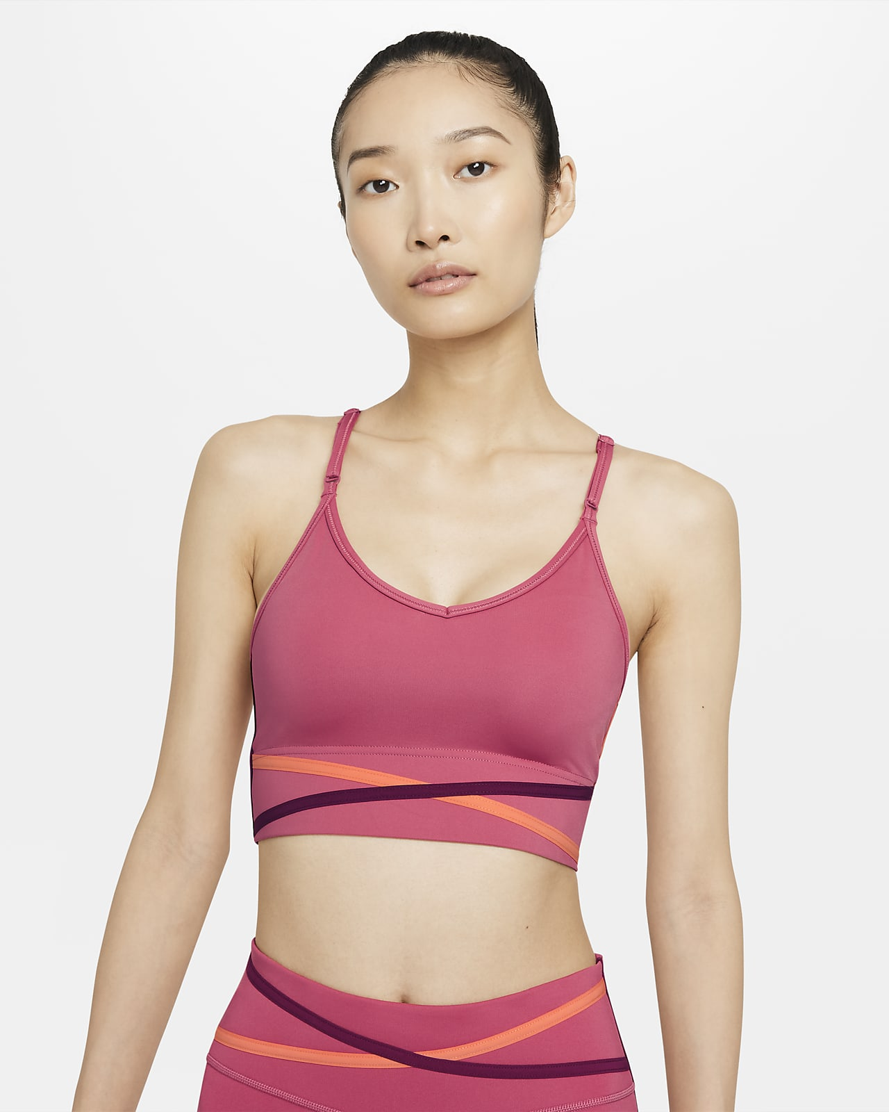 Nike Dri-FIT Indy sports-BH med polstring, bredt bånd og lett støtte til dame