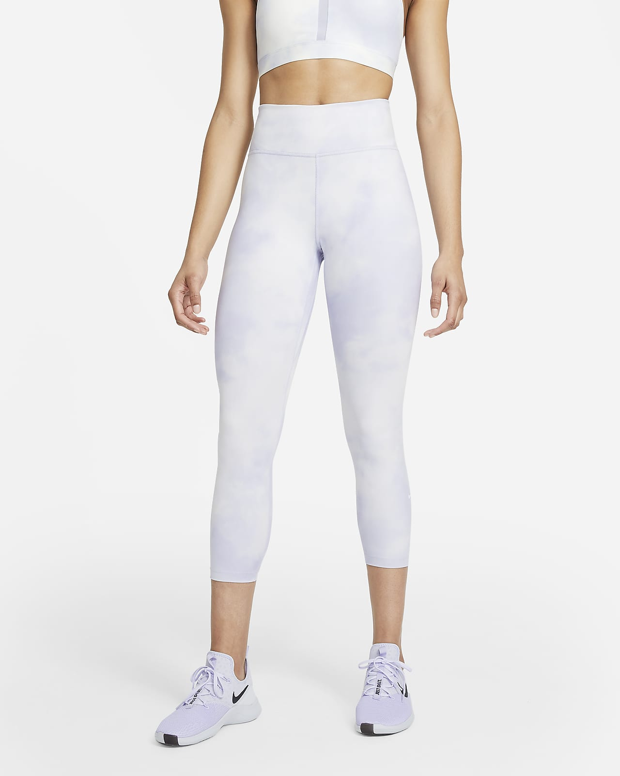 เลกกิ้งผู้หญิง 5 ส่วนเอวปานกลาง Nike One Icon Clash